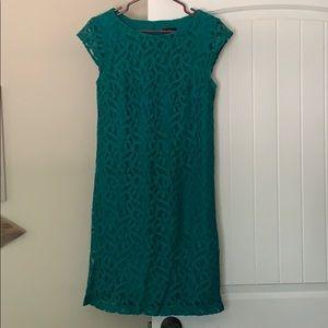 R & K Originals Teal Lace Dress